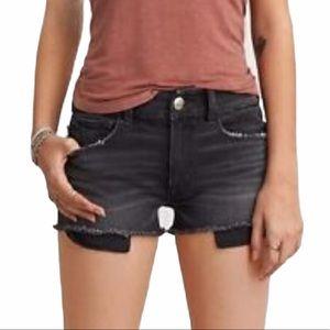 American Eagle hi rise shortie distressed shorts 4